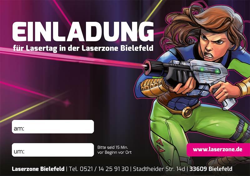 Laserzone Bielefeld Lasertag Kindergeburtstag Einladung 02