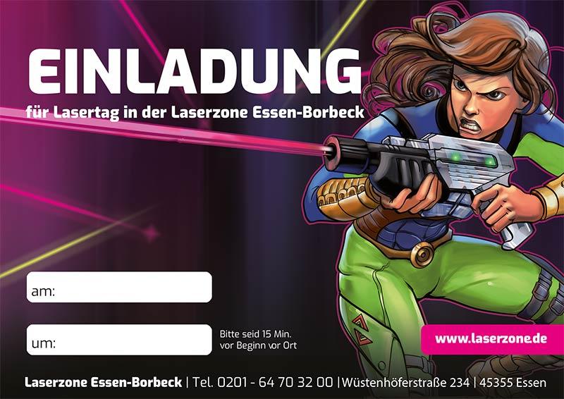 Laserzone Essen Borbeck Lasertag Kindergeburtstag Einladung 02