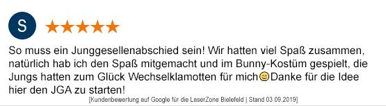 Junggesellenabschied Mönchengladbach laserzone_mg_kundenmeinung_jga04