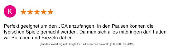 Junggesellenabschied Mönchengladbach laserzone_mg_kundenmeinung_jga05