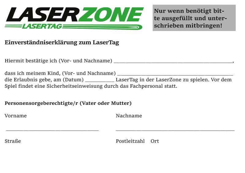 Vorschau Einverständniserklärung zum Lasertag