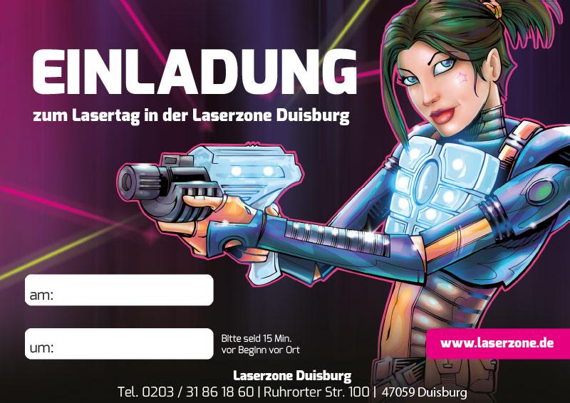 Laserzone Duisburg Lasertag Kindergeburtstag Einladung 01