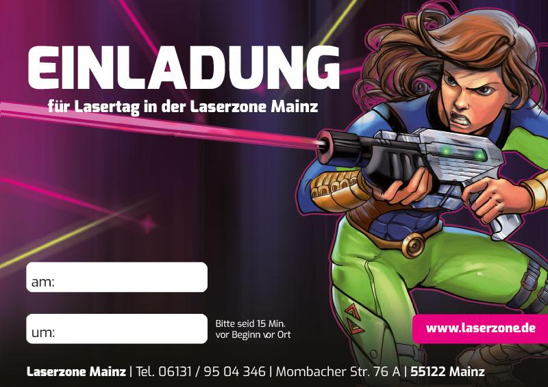 Laserzone Mainz Lasertag Kindergeburtstag Einladung 02