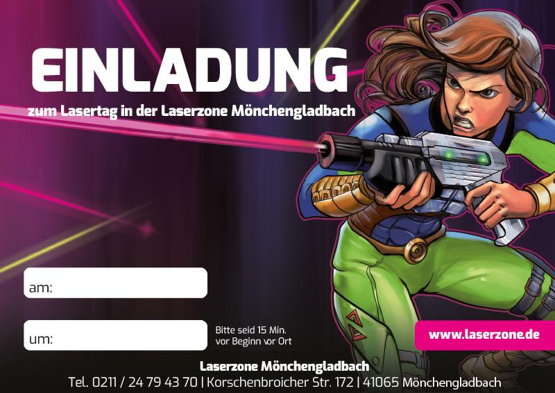Laserzone Mönchengladbach Lasertag Kindergeburtstag Einladung 02